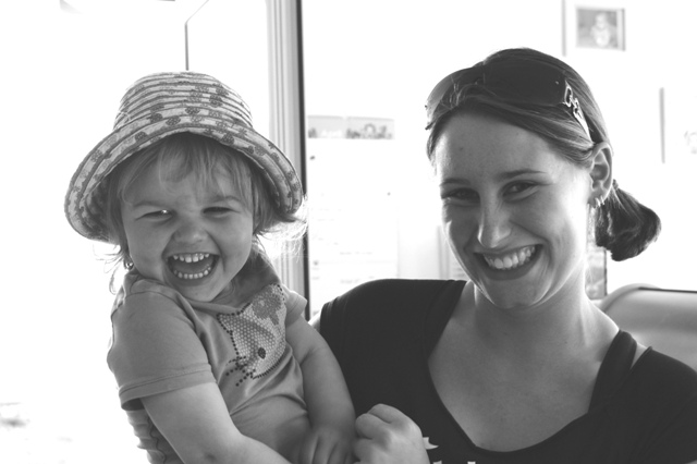 Meine süße Tochter und meine süße Kollegin