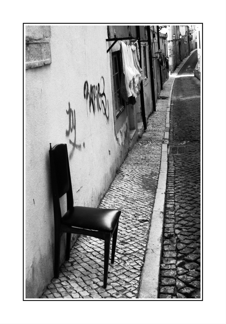 Meine Terrasse ist nur klein ! (Lissabon März 2010)