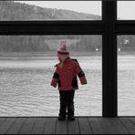 Meine Tochter am Kanal