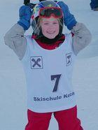 meine Tochter beim Skirennen.......