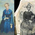 Meine Urgroßmutter : Gemälde und Fotonegativ.