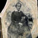 Meine UrUr-Großmutter fotografiert auf Glasplatte