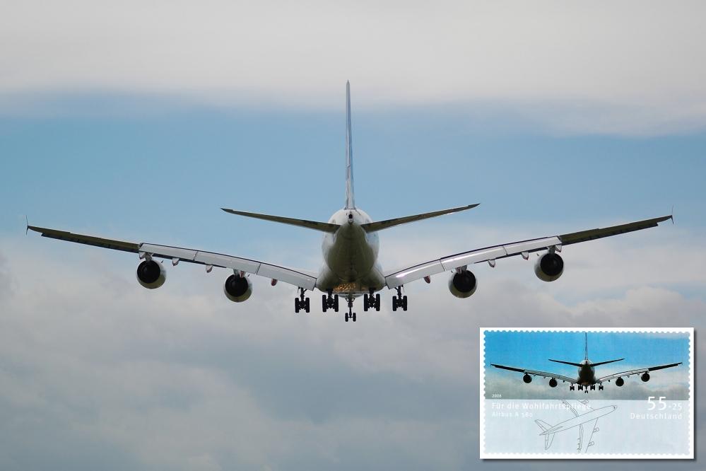 Meine Vorlage für  Sondermarke der Deutschen Post  - A380