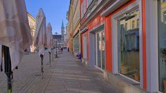 Meiningen, alle Läden geschlossen (Meiningen, todas las tiendas están cerradas)