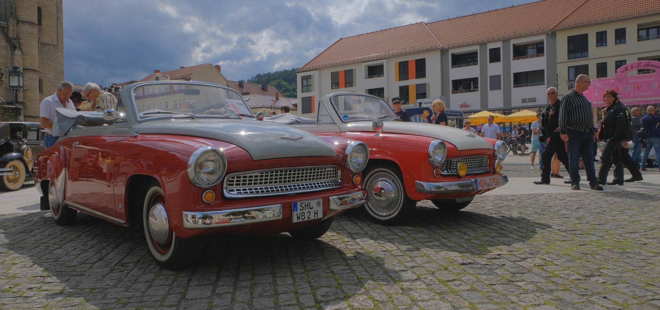 Meiningen, alte Autos (Meiningen, coches viejos)