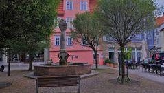 """Meiningen, an der Kapelle (Meiningen, la plaza """"en la capilla"""")"""