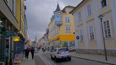 Meiningen, Anfang der Hauptstraße (Meiningen, la entrada de la calle principal)