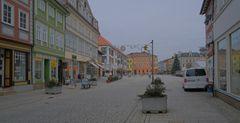 Meiningen, Blick zum Markt (Meiningen, vista a la plaza mayor)