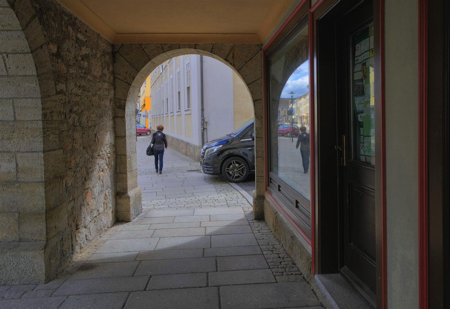 Meiningen, Durchblick (Meiningen, mirar por)