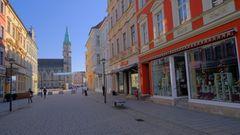 Meiningen, fast menschenleer (Meiningen, casi ninguna gente)