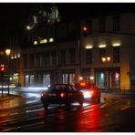"""Meiningen, hotel """"Sächsischer Hof"""" por la noche (Hotel """"Sächsischer Hof"""", nachts)"""