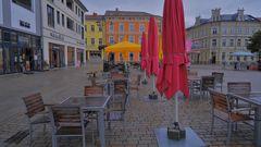 Meiningen im Regen (Meiningen, lluvia, por fin)