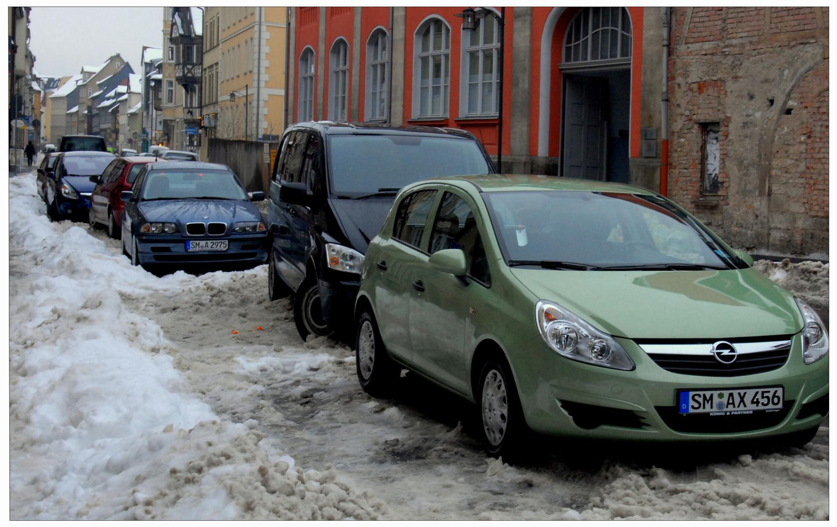 Meiningen, invierno en la ciudad (Winter in der Stadt)