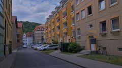 Meiningen, moderne Häuser (Meiningen, casas modernas)