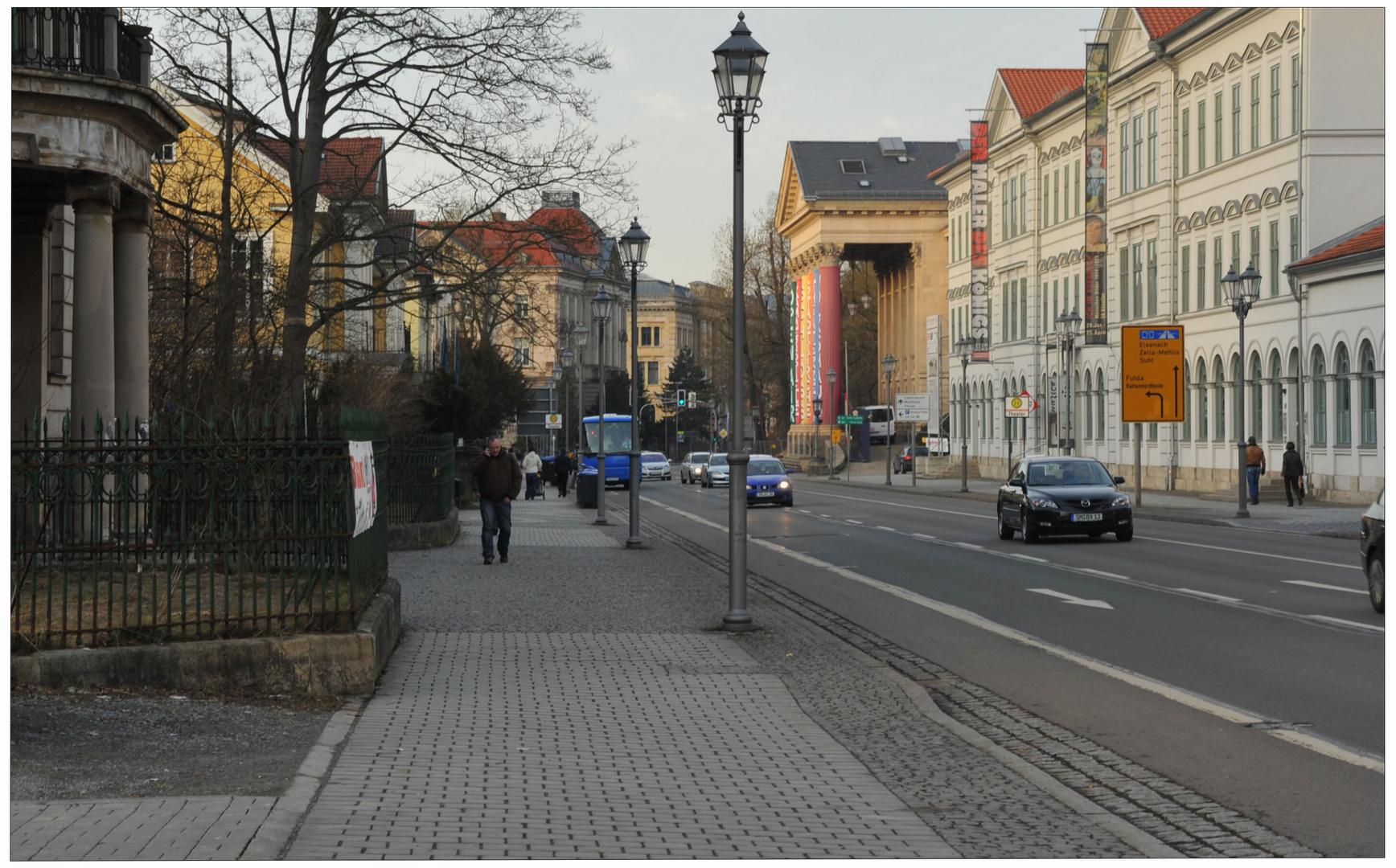 Meiningen, vista al teatro (Blick zum Theater) Foto & Bild ...
