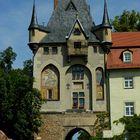 Meissen: il portale di accesso all' area del Duomo e del castello di Albrechtsburg