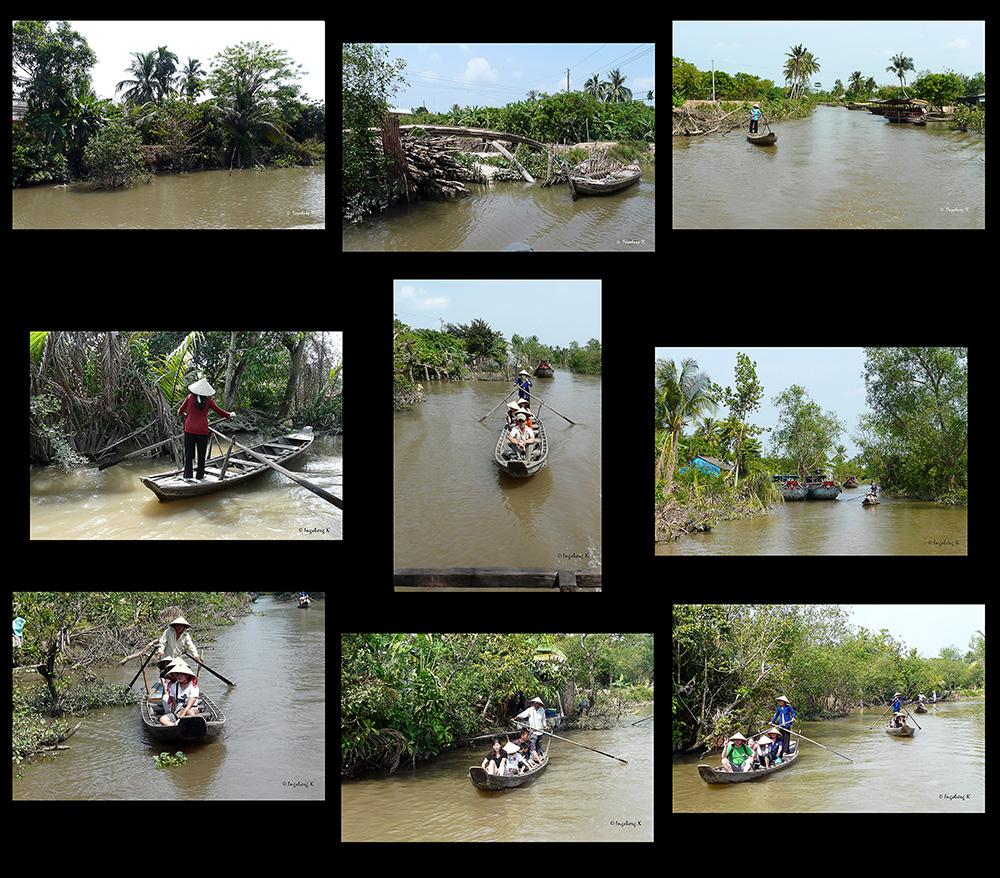 Mekong Delta - Frauen sorgen auch hier für den Transport