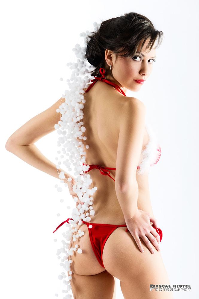 Melanie als Weihnachtsmodel auf Citydisplay.de