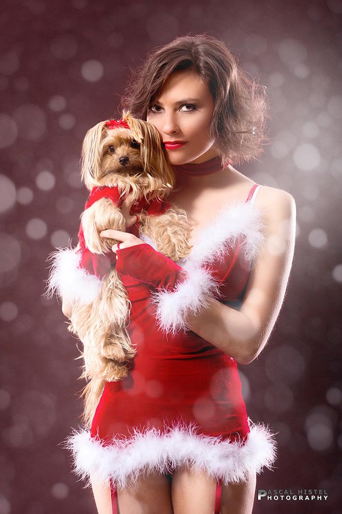 Melanie als Weihnachtsmodel auf Citydisplay.de - No. 3
