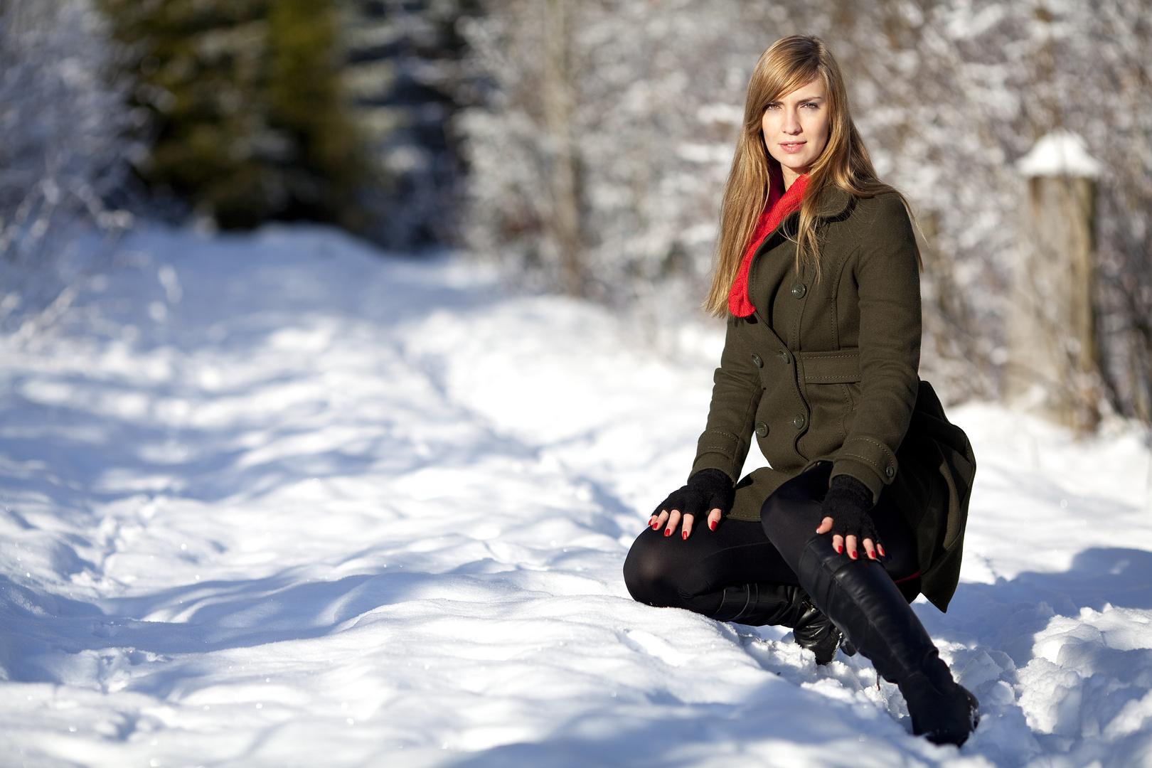 Melly im Schnee 3