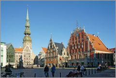 Melngalvju nams (Rathausplatz) Riga