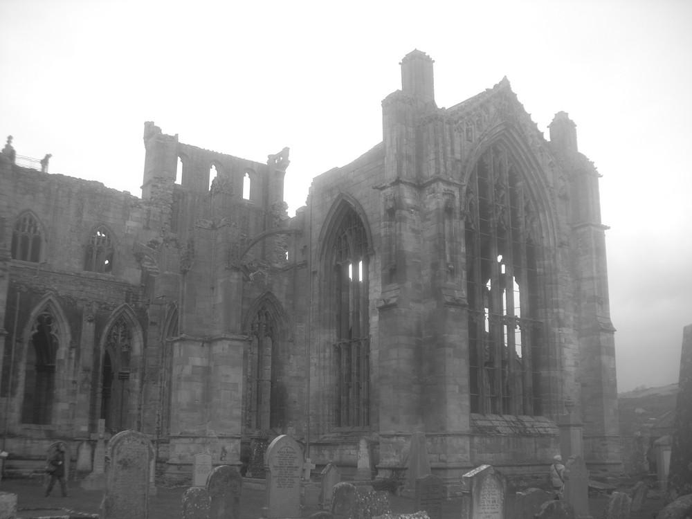 Melrose Abbey in Scotland