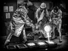Men at work - der Abguss