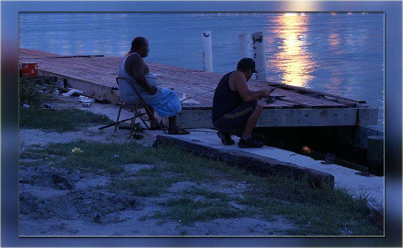 Men @ Work - im Hafen von Miami