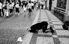 Mendicidad en Praga