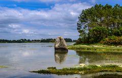 Menhir de Penglaouic, Pont-l'Abbé, Bretagne, France