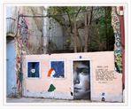 mensaje en la pared