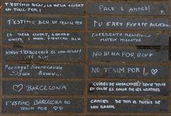 Mensajes tras la tragedia ( Las Ramblas Barcelona 2017 08 17)