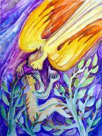 Mensch in Dornen + Engel