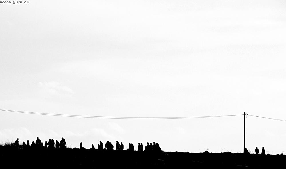 Menschen am Horizont