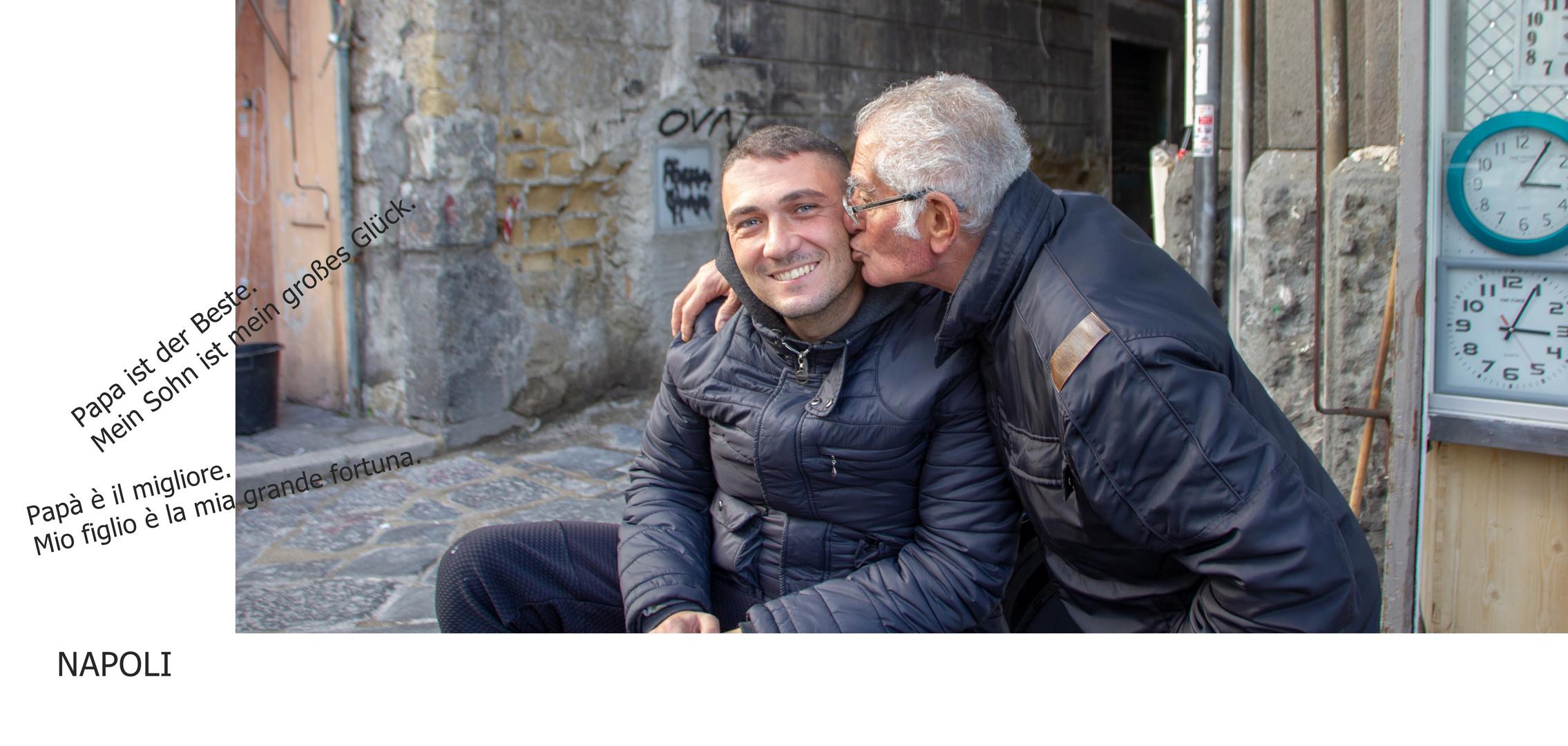 Menschen aus Napoli oder Papa und Sohn sind ein gutes Team