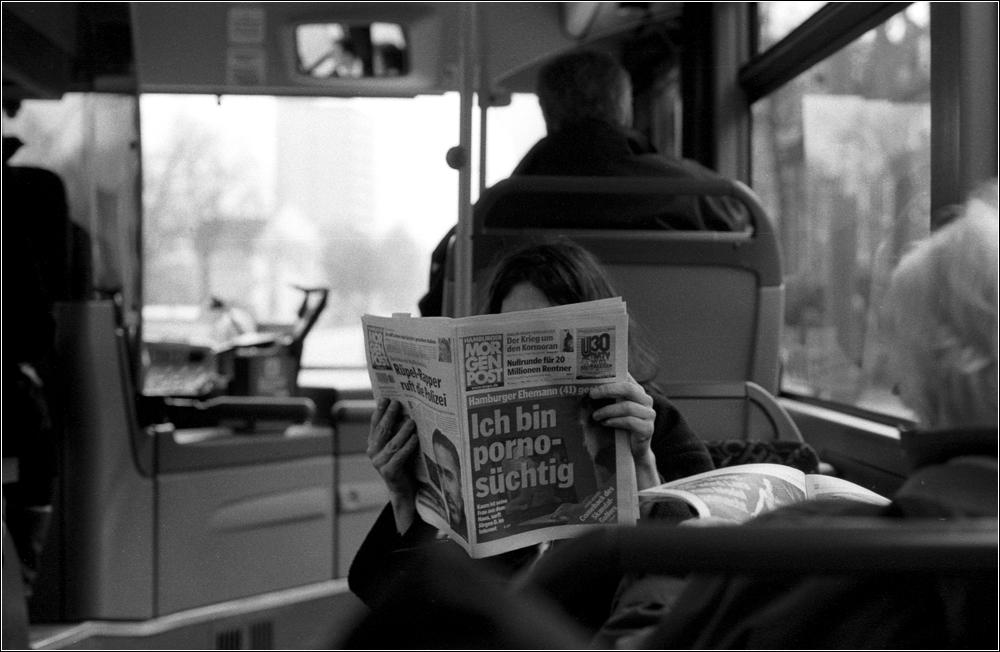Menschen im Bus