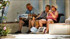 Menschen im Urlaub