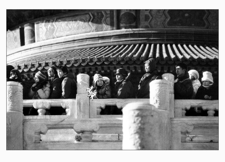 Menschen in Beijing: vorm Himmelstempel