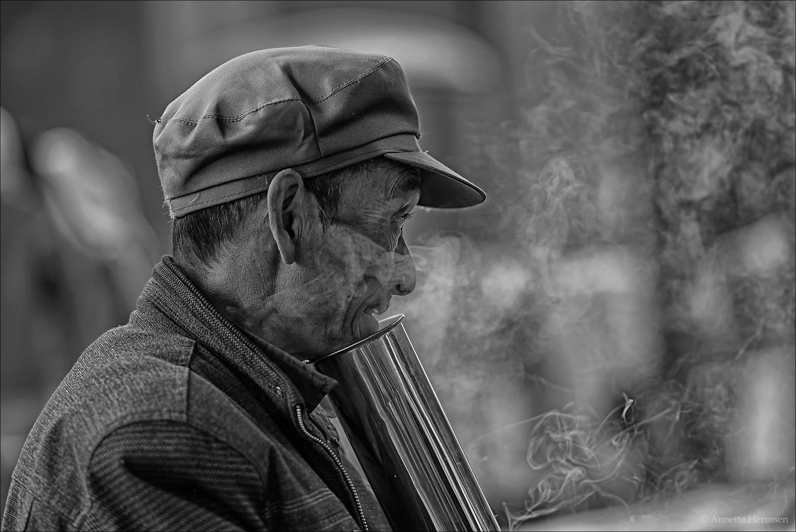 Menschen in China [14] - Der Raucher
