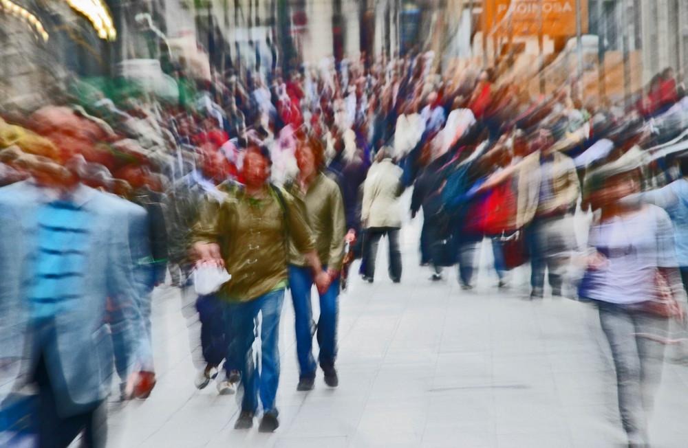 Menschen in der Großstadt
