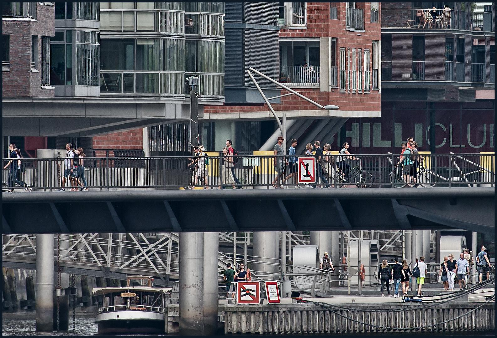 Menschen in der Hafencity