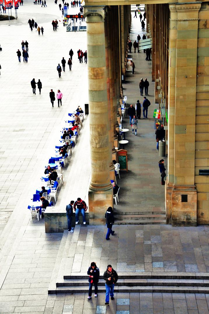 Menschen in der Stadt....