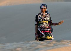 Menschen in der Wüste Thar