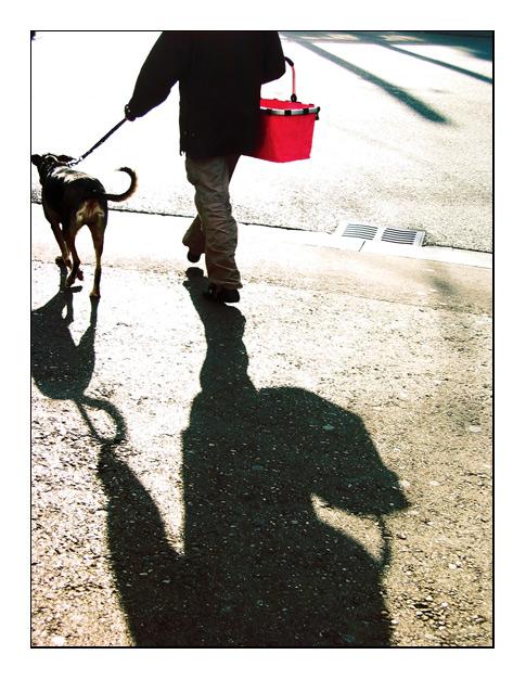 Menschen und ihr Schatten