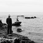 Menschen und Meer