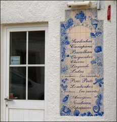 Menu sur Azulejo