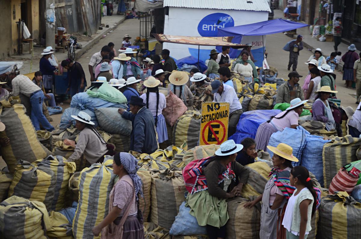 Mercado de papas