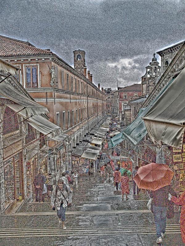 Mercatino Veneziano sotto la pioggia
