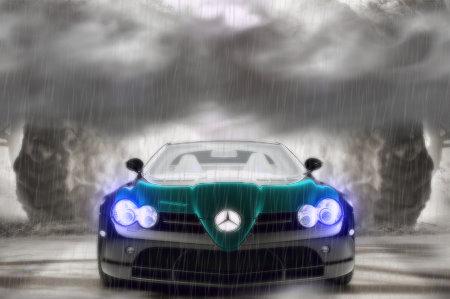 Mercedes-Benz SLR bei regen...