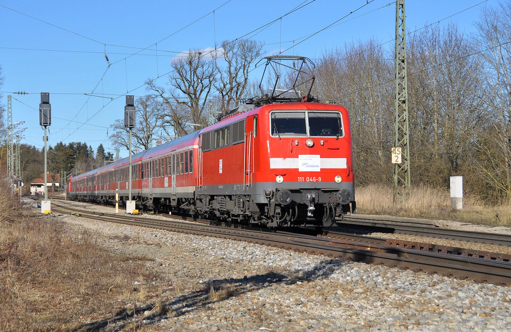 Meridian Ersatzzug mit BR 111